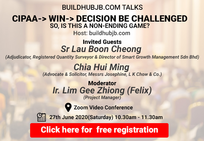 TALK # 1: <br>CIPAA->WIN->DECISION BE CHALLENGED