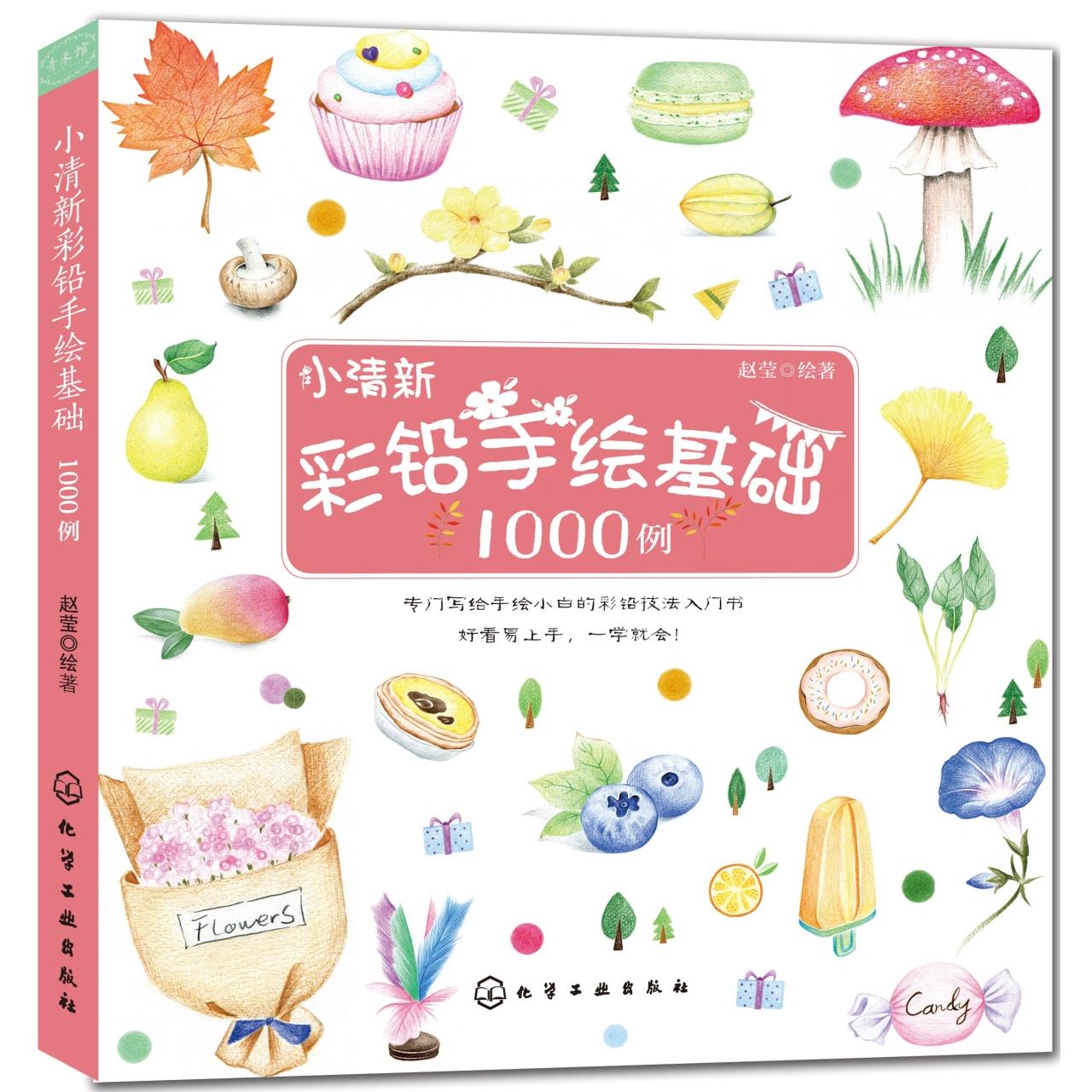 小清新 彩铅手绘基础1000例 【儿童手账绘画/基础绘画】