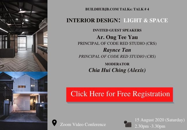TALK # 4: <br>INTERIOR DESIGN: LIGHT AND SPACE