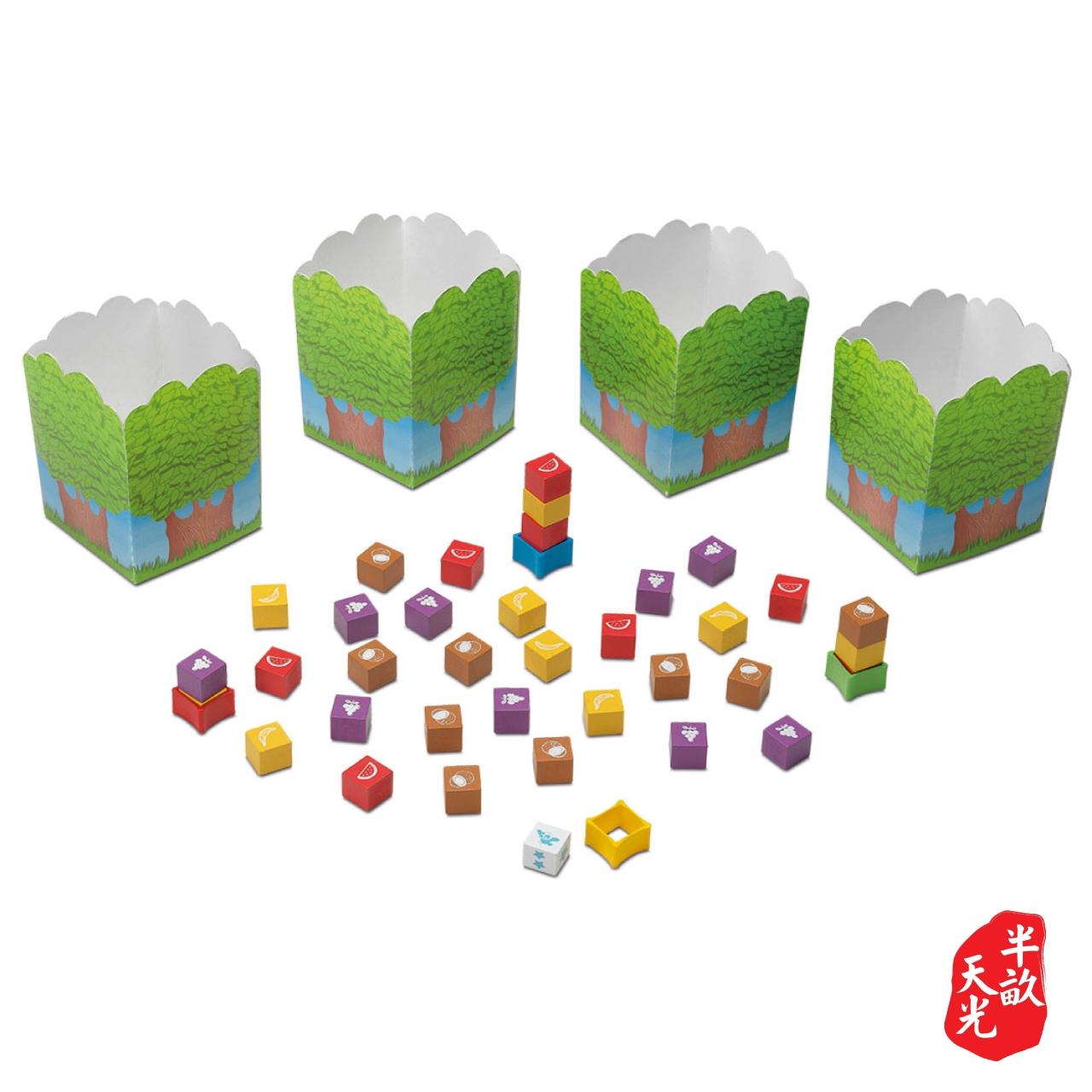 儿童桌游/儿童游戏/逻辑训练:猴子夹夹乐 Monkeys' Forest