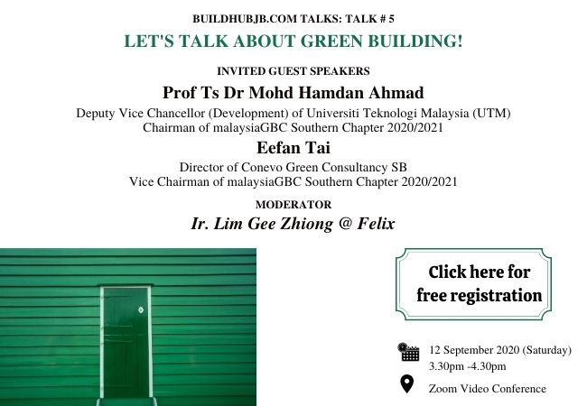 TALK # 5: <br>LET'S TALK ABOUT GREEN BUILDING!